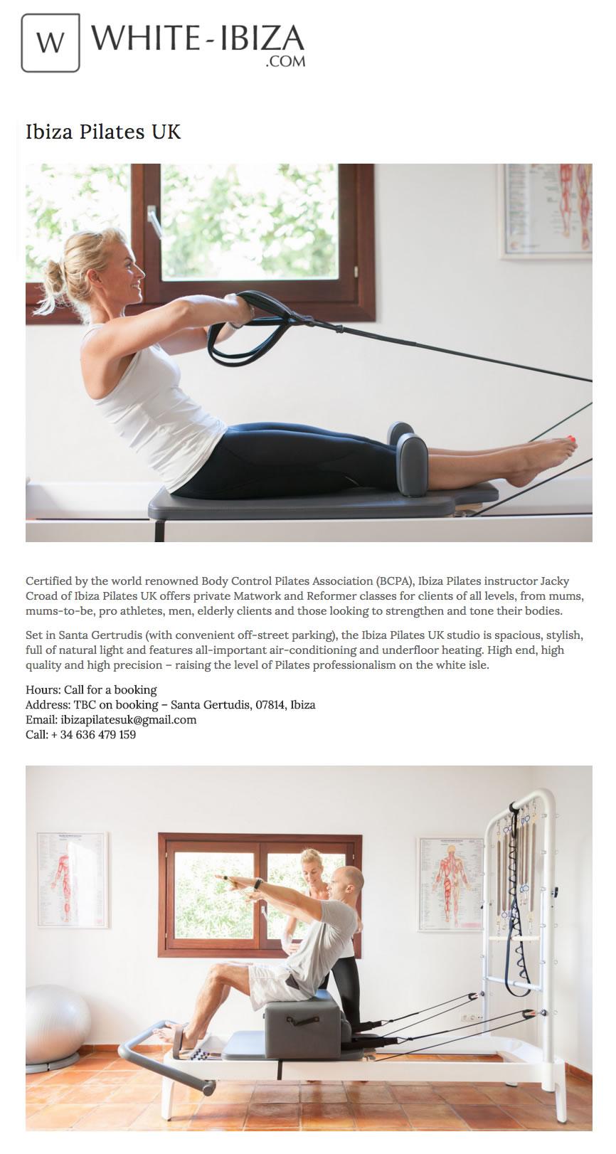 Ibiza Pilates White Ibiza