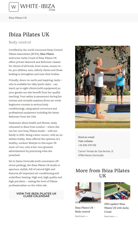 Press Ibiza Pilates WI body Control